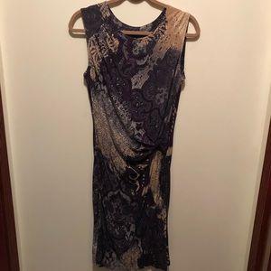 Nic + Zoe Dark Bloom Dress Purple Multi Medium